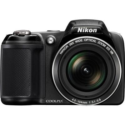 COOLPIX L330 20MP 720p HD Video Black Digital Camera - Factory Refurbished