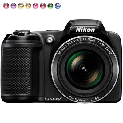 Coolpix L340 20.2MP Digital Camera 28x Optical Zoom Certified Refurbished