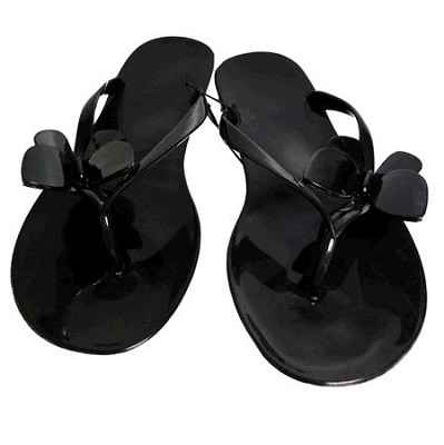 Jelly Sandals Black Size Large