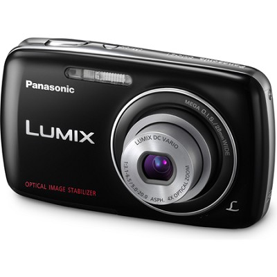 Lumix DMC-S1 12MP Compact Black Digital Camera w/ 720p HD Video