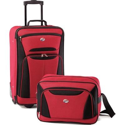Fieldbrook II Two-Piece Luggage Set (Red/Black) - OPEN BOX