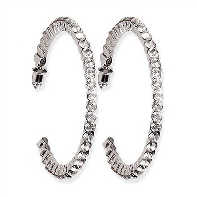 50mm Casting Hoop Earrings - Silver