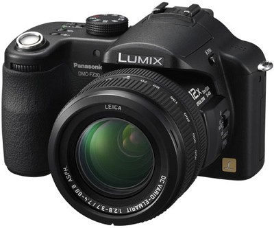 Lumix DMC-FZ30K Digital Camera (Black) - REFURBISHED