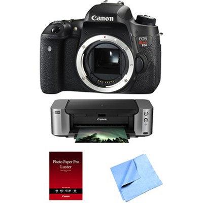 EOS Rebel T6s 24.2 Megapixel DSLR Camera Body + Pro 100 Printer and Paper