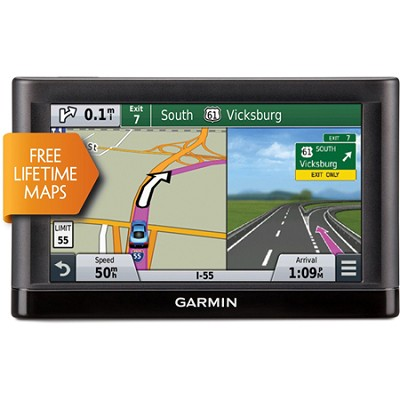Nuvi 65LM GPS w Lifetime Maps - 6` Display Refurbished 1 Year Warranty