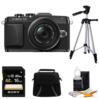 Mirrorless Micro Four Thirds Black Digital Camera w/ 14-42mm IIR Lens Bundle