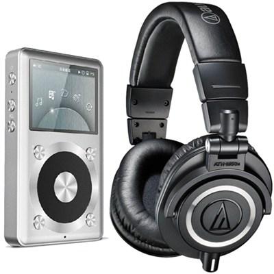 ATH-M50X Professional Studio Headphones (Black) Fiio X1 High Res Music Player