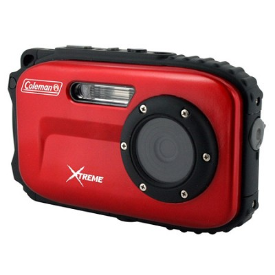 Xtreme C5WP 12MP 33ft. Waterproof Camera, Anti-Shake, Face Detection (Red)