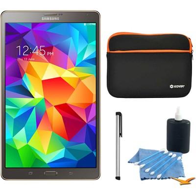 Galaxy Tab S 8.4` Tablet - (16GB, WiFi, Titanium Bronze) Accessory Bundle
