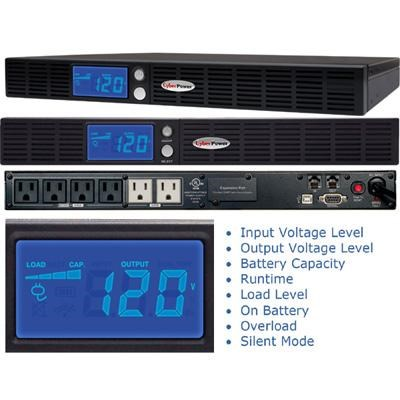 700VA 400W AVR Uninterruptible Power Supply with LCD Display - OR700LCDRM1U