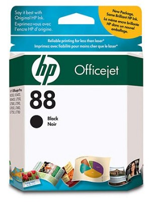 88 Black OfficeJet Ink Cartridge - 850 pages