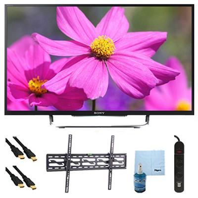 50` LED HDTV 3D WiFi Motionflow XR 480 Plus Tilt Mount HookUp Bundle KDL50W800B