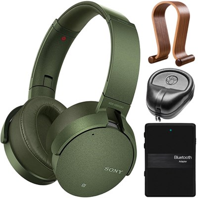 XB950N1 Extra Bass Noise Canceling Wireless Headphones Accessories Kit (Green)