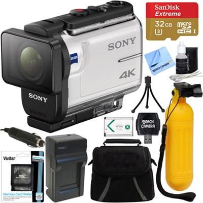 FDR-X3000 4K Wi-Fi GPS Action Camera w/ Balanced Optical SteadyShot 64GB Bundle