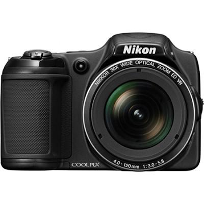 COOLPIX L820 16 MP 30x Zoom Digital Camera - Black Factory Refurbished