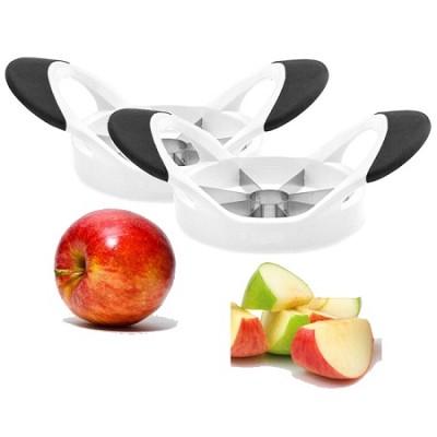 Soft Grip Apple Slicer and Corer - Makes 8 Slices - 2 Pack