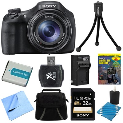 DSC-HX300/B Black Digital Camera 32GB Bundle