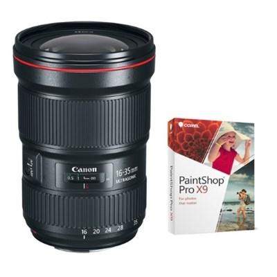 EF 16-35mm f/2.8L III USM Ultra Wide Angle Zoom Lens + Corel Paintshop Pro X9
