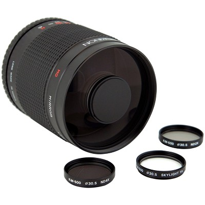 500mm f/8.0 Mirror Lens for Olympus and 4/3 DSLR Cameras (Black)