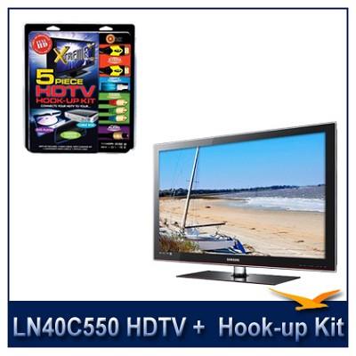 LN40C550 - 40` HDTV + High-performance HDTV Hook-up & Maintenance Kit