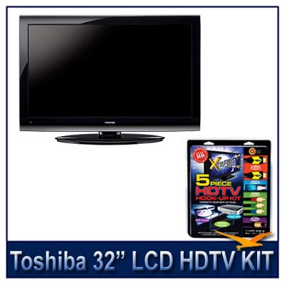 32E200U 32` 1080p LCD HDTV + High-performance HDTV Hook-up & Maintenance Kit