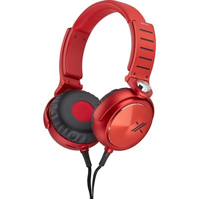 MDRX05/BR X Headphone, Black/Red