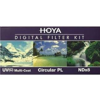 62mm Digital Filter Kit With UV, Circular Polarizer, NDX8