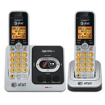 DECT 6.0 Digital Dual Handset Answering System with Caller ID/Call Waiting