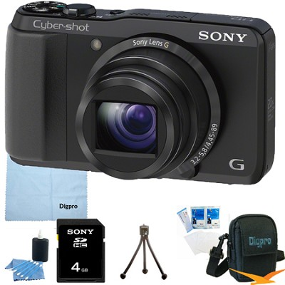 Cyber-shot DSC-HX20V 18.2 MP 20x Optical Zoom Ultrazoom Camera 4GB Bundle