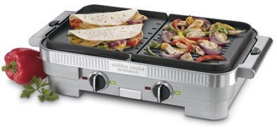 GR-55 Griddler Combo cooking surface uses two removable plates