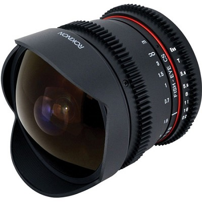 8mm T3.8 HD Cine Lens for Micro Four Thirds Mount with Removable Hood