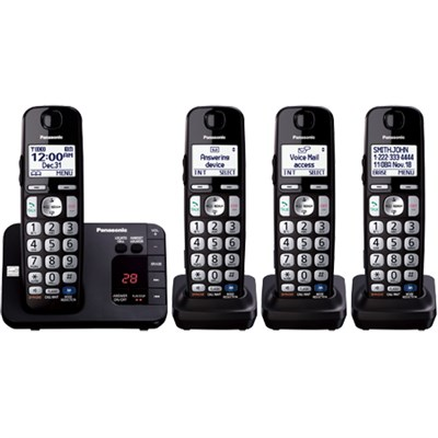 Expandable Digital Phone with Answering Machine 4 Cordless Handsets (OPEN BOX)