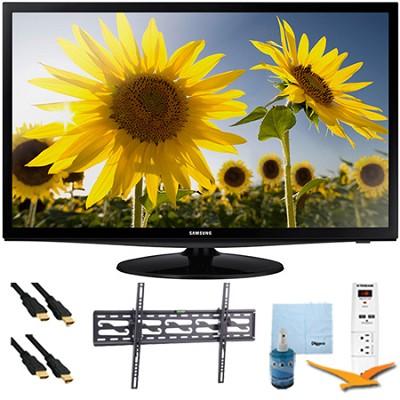 28` LED HD 720p TV Clear Motion Rate 120 Tilt-Mount & Hook-Up Bundle - UN28H4000