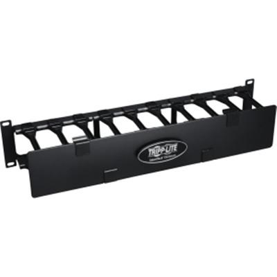 Rack Enclosure Horizontal Cable Manager Steel with Finger Duct -SRCABLEDUCT2UHD