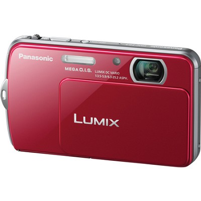 Lumix DMC-FP7 16MP Red Compact Digital Camera w/ 3.5` Touch Screen
