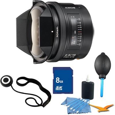 SAL16F28 - 16mm f2.8 Fisheye Lens Essentials Kit