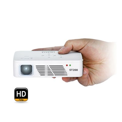 KP-350-01 ST200 720P Short Throw LED Pico Projector with 60+ Minute Battery