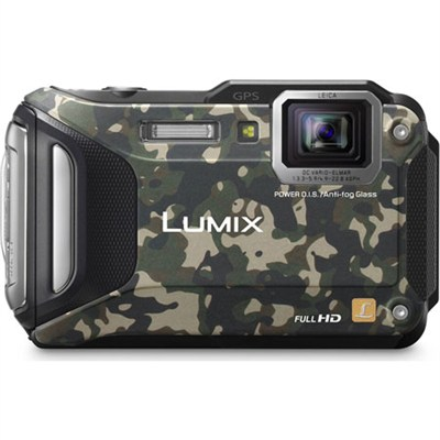 LUMIX DMC-TS6 WiFi Enabled Tough Adventure Camouflage - OPEN BOX