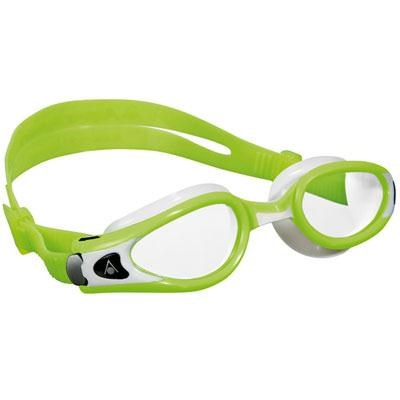 Kaiman EXO Small Swimming Goggles with Clear Lens and Lime/White Frame - 175820