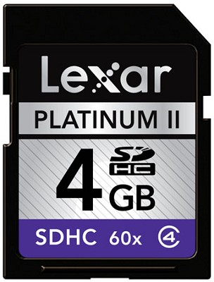 4 GB Platinum II 60x SD Card LSD4GBBSBNA060