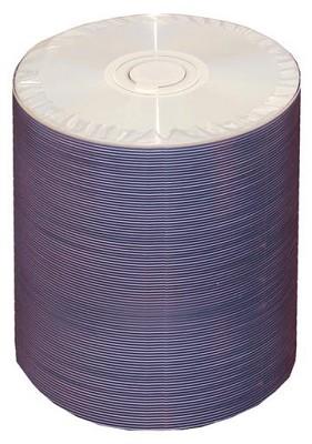 4.7GB, 8X-R, White Inkjet (Hub Printable) DVD - 100 Disc Tapewrap Spindle