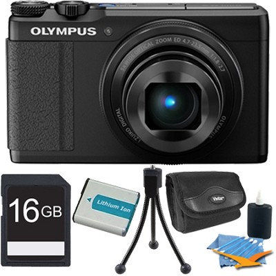 XZ-10 12MP Digital Camera f1.8 Lens 3` Touch LCD 1080p Video - Black 16 GB Kit