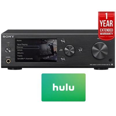 HAP-S1/B 500GB HDD Hi-Res Music Player System w/ Hulu + Warranty Bundle