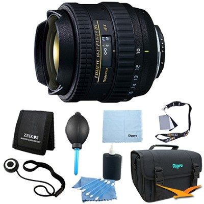 AT-X AF 10-17mm f3.5-4.5 DX Fisheye Lens for Nikon DSLRs - Lens Kit Bundle