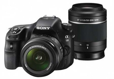 Alpha SLT-A58K 20.1 MP SLR Kit w18-55 + 55-200 Zoom Lens