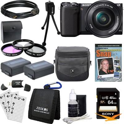 NEX-5TL Compact Interchangeable Lens Digital Camera with 16-50mm Lens Bundle