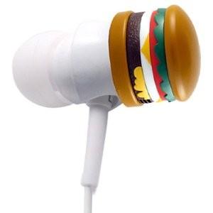 IP-WACK-BGR Wacky Ear Buds - Burger Brown/White