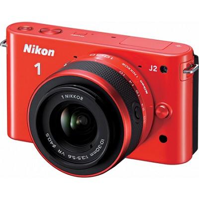 1 J2 SLR Orange Digital Camera w/ 10-30mm VR Lens (27577)