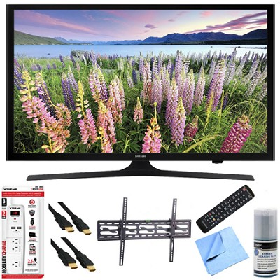 UN43J5200 - 43-Inch Full HD 1080p Smart LED HDTV Tilt Mount & Hook-Up Bundle