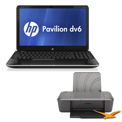 Pavilion 15.6` dv6-7020us Entertainment Notebook PC Core i5-2450M Printer Bundle
